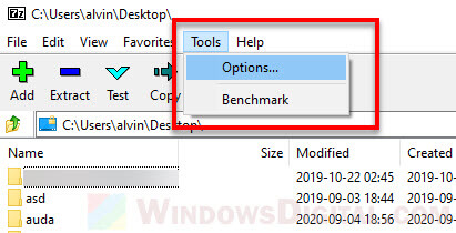 7-Zip options to remove CRC SHA from right click Windows 11 10