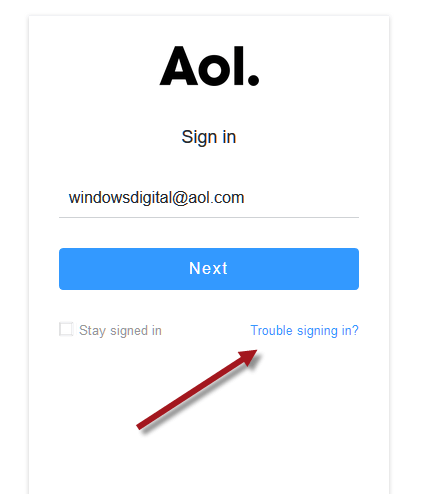 AOL Email Forgot Password