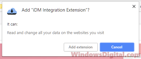 Add iDM integration extension to Chrome