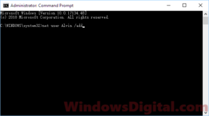 Add new account via CMD if can't login to Windows 10 after Windows update