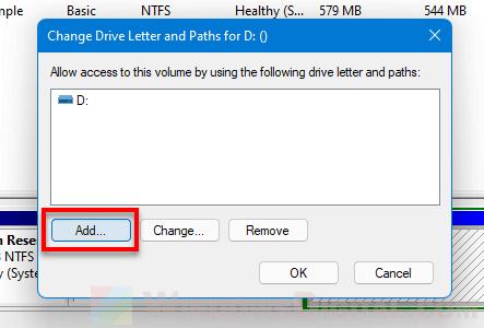 Add path to a drive Windows 11