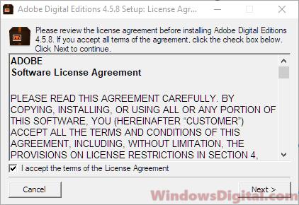 Adobe Digital Editions for Windows 10 64 bit update problems