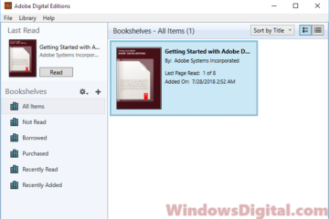 Adobe Digital Editions for Windows 10 Free Download