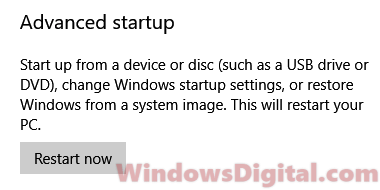 Advanced startup repair Windows 10 using command prompt