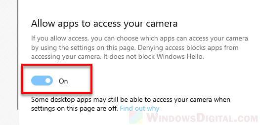 Allow facebook messenger to access camera