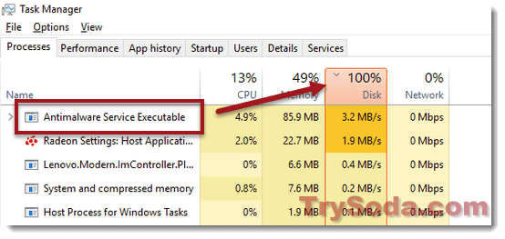 Antimalware Service Executable High Disk Cpu Usage In Windows 10