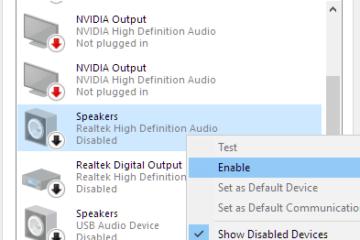 Audio not working on Windows 10