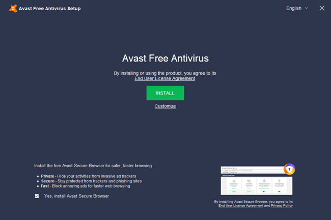 Avast Free Antivirus Offline Installer Download for Windows 10 PC