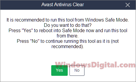 Avast safe mode uninstall Windows 10 update black screen