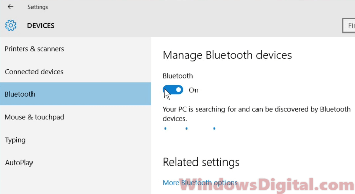 Bluetooth Not Working on Windows 10 Laptop After Update