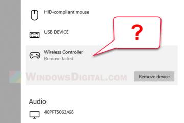 Bluetooth Remove Failed Windows 11 10