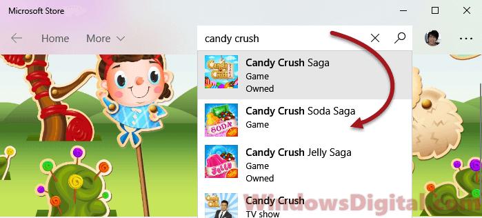 Candy Crush Soda Saga from Microsoft Windows Store