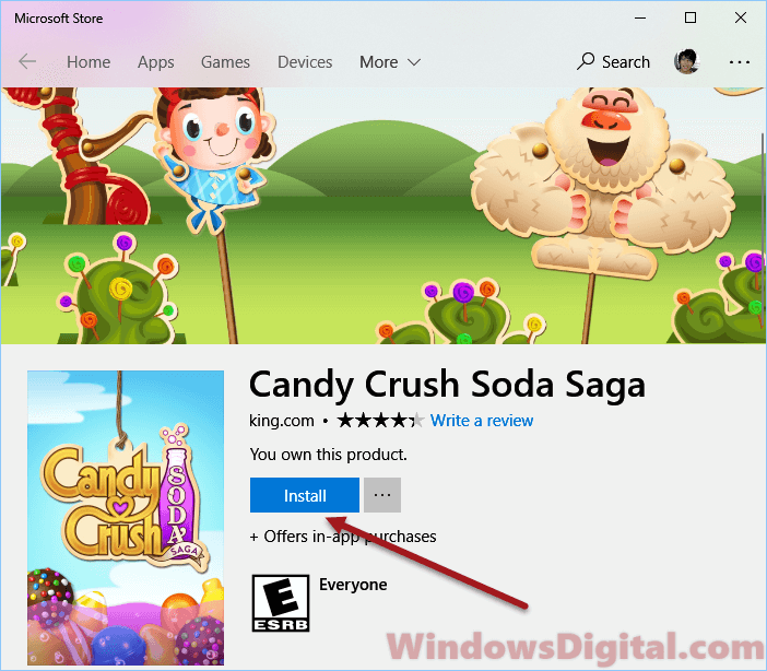 Candy Crush Soda Saga game free Download for Windows 10 PC