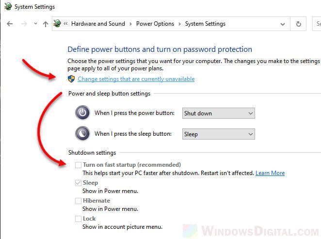 Can't Shut down Windows 10 Goes back to login screen