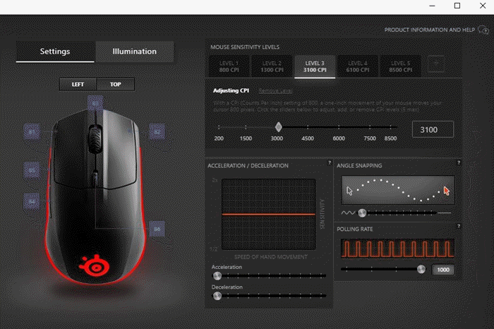 Change Mouse DPI in SteelSeries Engine