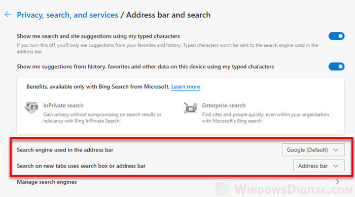 Change New Tab Page to Google in Microsoft Edge without Extension