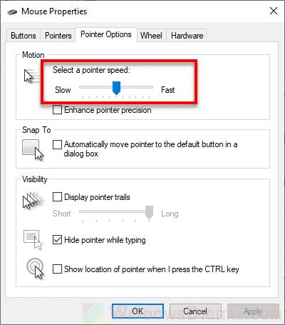 Change mouse DPI settings in Windows 10