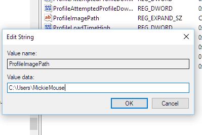 Check your User profile service failed the logon Windows 10