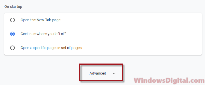 Chrome Advanced disable notifications