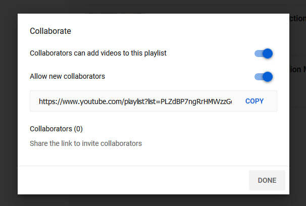 Collaborate Playlist YouTube