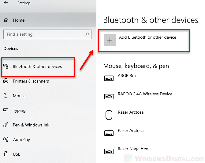 Connect pair AirPods Windows 10 Bluetooth