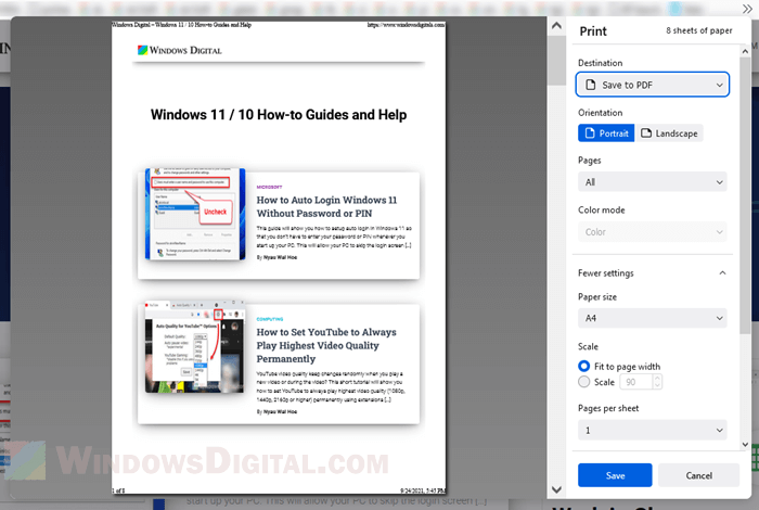 Convert HTML to PDF with Firefox or Edge
