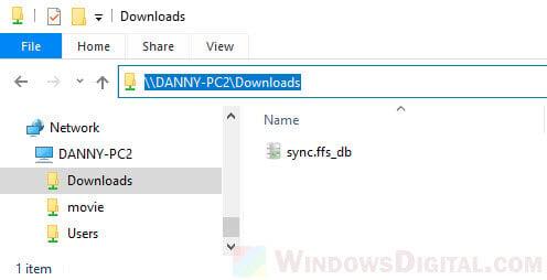 Copy full path of a network folder in Windows 10