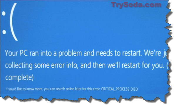 Critical Process Died BSOD Windows 10 After Update