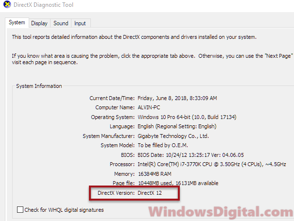 DirectX Diagnostic Download DirectX 11 Windows 10 64 bit Offline Installer
