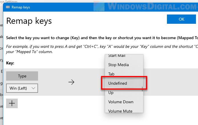 Disable a keyboard key Windows 11