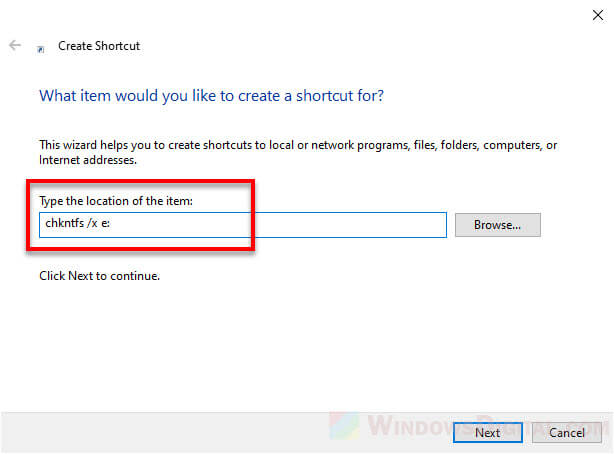 Disable disk checking startup Windows 10