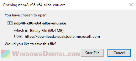 Download .NET Framework 4.8 Offline Installer for Windows 10