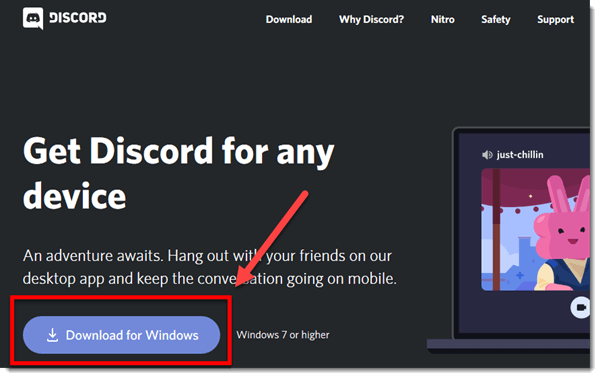 Download Discord for Windows 10 PC