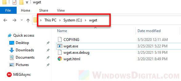 Download Files From Web Directory Website Folder in Windows 10