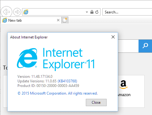 Internet explorer is ie 11 the latest and available for windows.