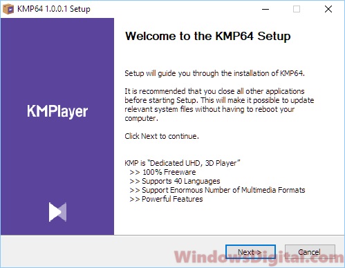 Download KMPlayer for Windows 10 64 bit offline installer