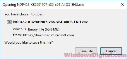 Download Microsoft dot NET Framework 4.5 Offline Installer Windows 10