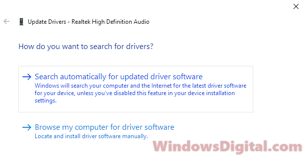 Download Realtek Audio Driver Windows 10 offline installer