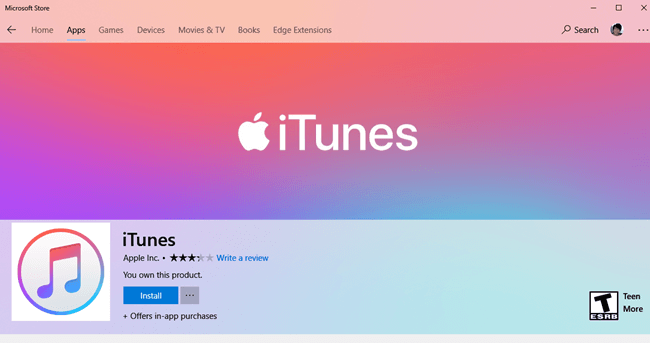 Download iTunes app free for Windows 10 PC laptop