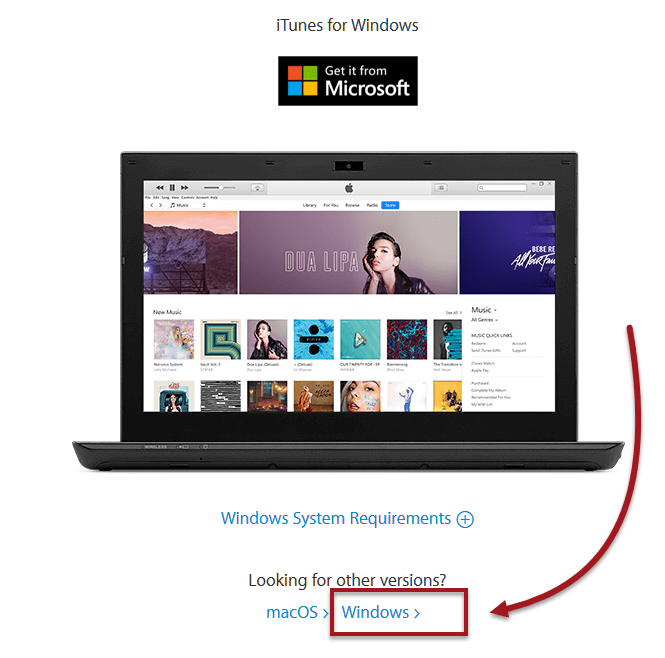 Download iTunes free for Windows 10 64 bit Pro Home PC