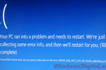 Driver IRQL_NOT_LESS_OR_EQUAL Windows 10