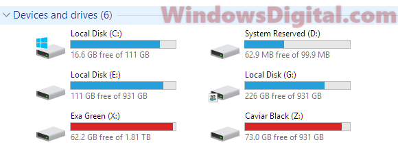 Drives full Windows 10 needs more space