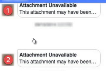 Facebook Attachment Unavailable Error Messenger