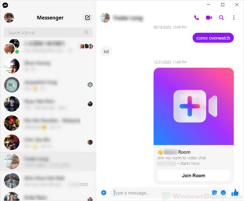 Facebook Messenger on Windows 10 64 bit download