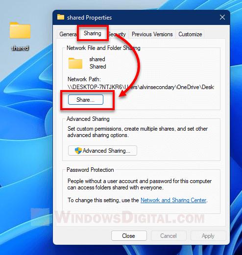 File Access denied network shared folder Windows 11 10