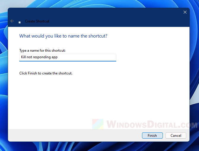 Force close not responding program in Windows 11