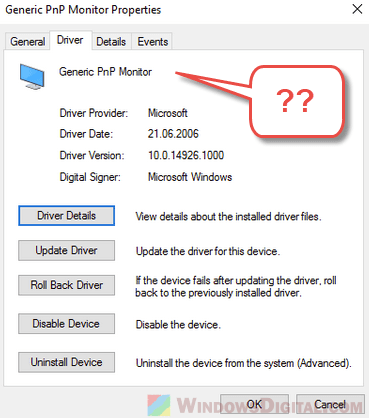 Generic PnP Monitor Driver Windows 10