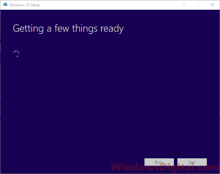 Getting a few things ready on Windows 10 digital download