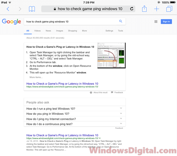 Google Desktop Version on iPad