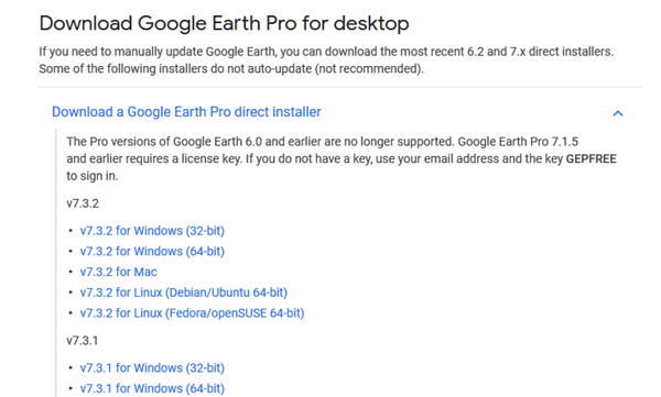 Google Earth Download for Windows 10 offline installer old version
